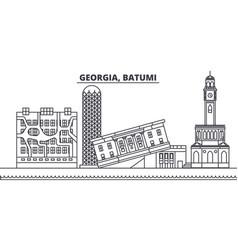 georgia batumi line skyline vector image