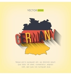 Germany map in flat design german border vector