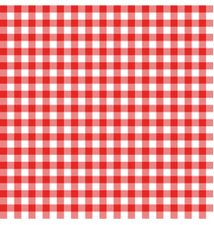 Gingham seamless pattern red italian tablecloth vector