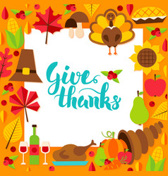 Give thanks paper template vector