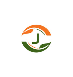 green project solution center initial j vector image