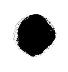 grunge circle isolated on white vector image