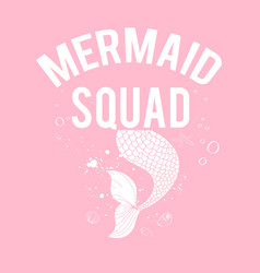 hand drawing mermaid for girls vector image