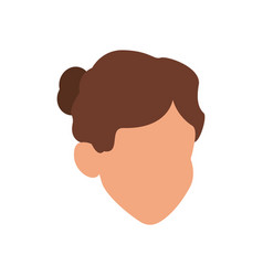 Head female young faceless hairstyle vector