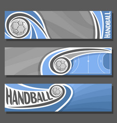 horizontal banners for handball vector image