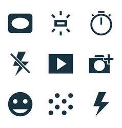 Image icons set with vignette pattern add a vector