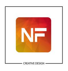 Initial letter nf logo template design vector