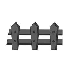 Isolated fence design vector
