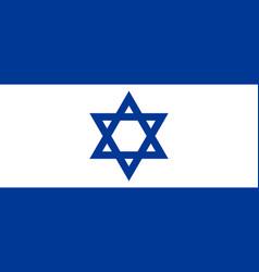 Israel flag vector