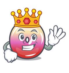 King jelly ring candy mascot cartoon vector