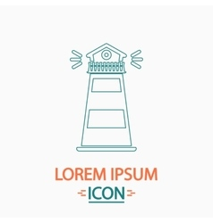 Lighthouse computer symbol vector