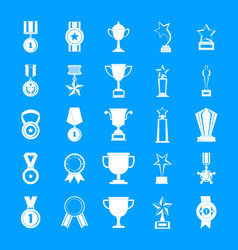 medal award icon set simple style vector image