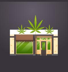 Modern cannabis store icon marijuana organic shop vector