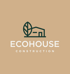 modern professional logo eco house construction on vector image
