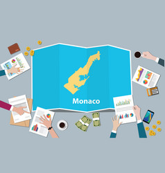 monaco economy country growth nation team discuss vector image