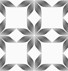 Monochrome flowers forming squares vector image