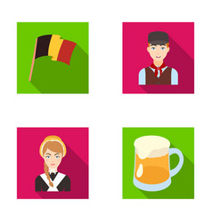 National flag belgians and other symbols of the vector