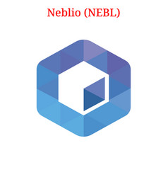Neblio nebl logo vector