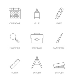 Office tools outline icons vol 3 vector