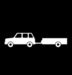 passenger car with a trailer vector image