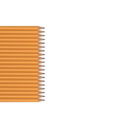 pencils lying in a vertical row on a white vector image