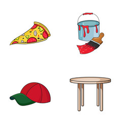 Pizzeria clothes and other web icon in cartoon vector