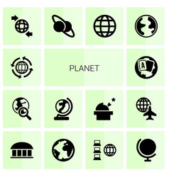 Planet icons vector