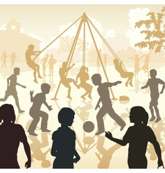 Playground kids vector image