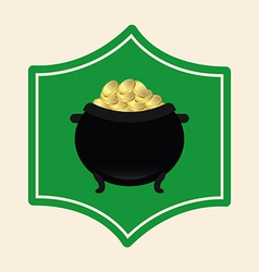 Pot gold vector