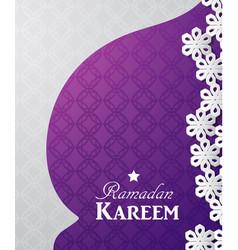 ramadan kareem 3d abstract paper cut vector image
