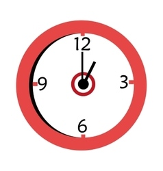 red and white wall clock graphic vector image