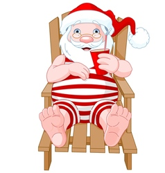 Santa Claus Relaxing vector image