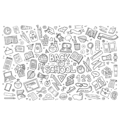 School and education doodles hand drawn vector