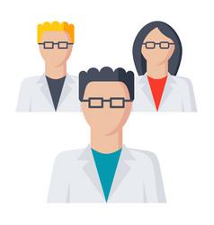 Scientific community icon vector