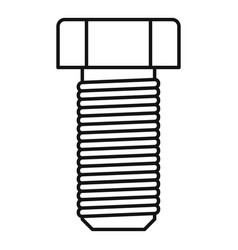 Screw-bolt nail icon outline style vector