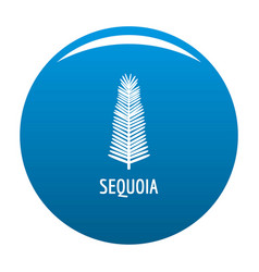 sequoia leaf icon blue vector image