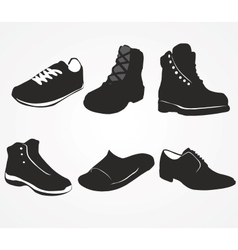 set icons mens shoes vector image