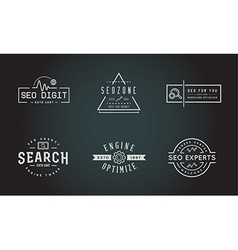 Set of seo search engine optimisation elements and vector