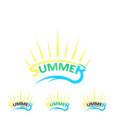 Set summer logo vector