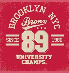Sport wear typography emblem t-shirt stamp vector