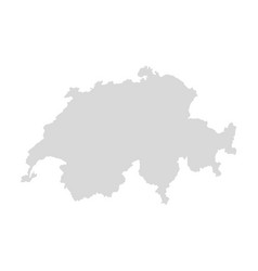 switzerland map swiss europe background vector image