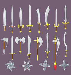 sword medieval weapon of knight with sharp vector image
