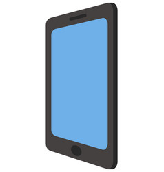 tablet with a blue screen and a black frame vector image