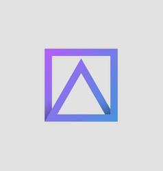 triangle square colorful gradient logo vector image