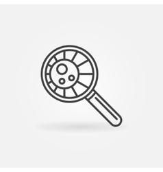 Virus in magnifying glass vector