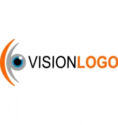 vision logo vector image vector image