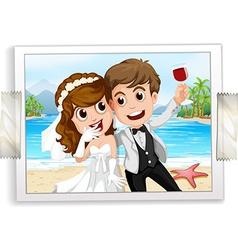 Wedding photo vector