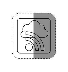 figure cloud wife network icon vector image vector image