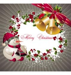 Merry Christmas card vector image