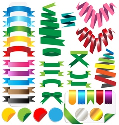 set of ribbons Isolated on white background vector image